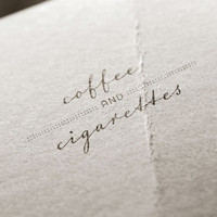Coffee & Cigarettes // Unique Logotype graphic design for personal or business use