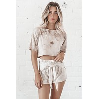 Hug It Out Taupe Tie Dye Set