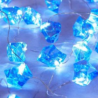 Blue Crystal String Lights