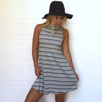 Dashing Stripe Jersey Dress
