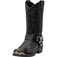 Dingo Mens Chopper Eagle Harness Black Leather Motorcycle Boots