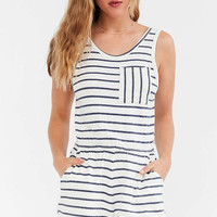 MICHELLE By COMUNE Terry Knit Pocket Romper - Urban Outfitters