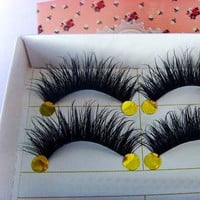 5 Pairs Natural Eye Lashes Makeup Handmade Fashion Thick Fake False Eyelashes