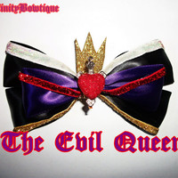 The Evil Queen Disney Bow by ToInfinityBowtique on Etsy