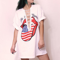 the rolling stones crisscross t-shirt dress