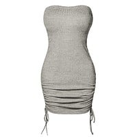 Stretchy Ribbed Knit Infinity Multi-Way Convertible Tube Dress Top Skirt (CLEARANCE)