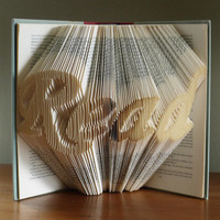 Folded Book Art  Gifts for Book Lovers   READ  by LucianaFrigerio