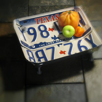 """Upcycled Texas License Plate Bowl """"The Lone Star State"""""""