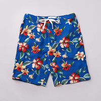 Flatspot - Less Flower Pattern Shorts Royal