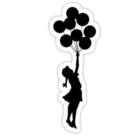 Girl Holding on to the Balloons