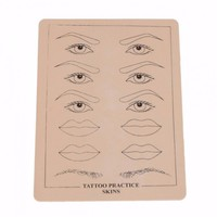 10pcs/lot Blank Eyebrow Lips Artificial Soft Leather Tattoo Simulation Practice Skin for Needle Machine Supply Tattoo accesories