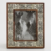 Black and White Mud Cloth Bone Frame
