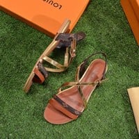 shosouvenir 【Louis Vuitton】LV Open toe cross belt sandals