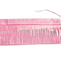 48 pcs Super Professional Cosmetic Makeup Brush Set with Pink Bag