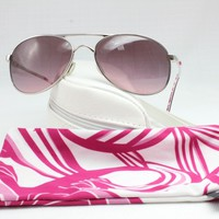 Oakley Silver Wire Breast Cancer Aviator Women Sunglasses 004068-13 Free Ship!!