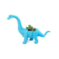 Up-cycled Small Turquoise Blue Apatosaurus Dinosaur Planters