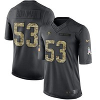 Men's San Francisco 49ers NaVorro Bowman Nike Anthracite 2016 Salute to Service Jersey