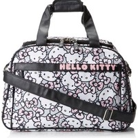 Hello Kitty Pink/Grey All Over Print Weekender Carry On,Multi,One Size