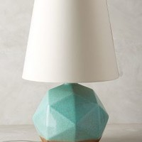 Geo Facets Lamp Ensemble by Anthropologie in Mint Size: One Size Lighting