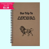 Our Trip To Africa - Journal, Book, Custom Journal, Sketchbook, Scrapbook, Extra-Heavyweight Covers