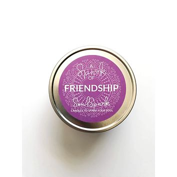 A Spark of Friendship Candle