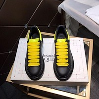 Alexander McQUEEN Men Fashion Boots fashionable Casual leather Breathable Sneakers Running Shoes-24