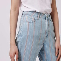 MOTO Summer Stripe Mom Jeans - Topshop