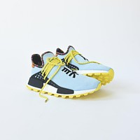 ADIDAS ORIGINALS X PHARRELL WILLIAMS SOLAR HU NMD CLEAR SKY / BRIGHT YELLOW / BLACK