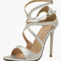 Stiletto Heel Patent PU Dress Sandals