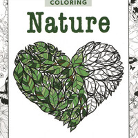 Zen Coloring Nature Adult Coloring Book