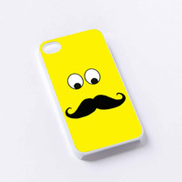 yellow mustahe iPhone 4/4S, 5/5S, 5C,6,6plus,and Samsung s3,s4,s5,s6