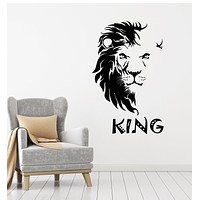 Vinyl Wall Decal Abstract African Lion Head King Tribal Stickers Mural (g3617)