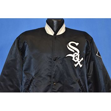 90s Chicago White Sox Satin Starter Snap Jacket Large