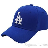 New high-quality boy Baseball Caps LA Dodgers Outdoors Snapback Curved Brim Caps Bones Hip Hop Hats Men Women Gorras
