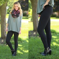 Soft to the Touch Leggings in Black