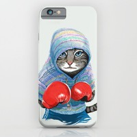 Boxing Cat iPhone & iPod Case by Tummeow