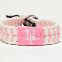 Gamewear MLB Leather Wrist Band - Mets (Pink)