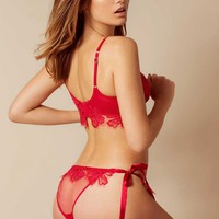 Seraphina Tie Side Red