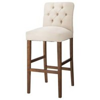 "Brookline Tufted 30"" Barstool Hardwood - Threshold™ : Target"
