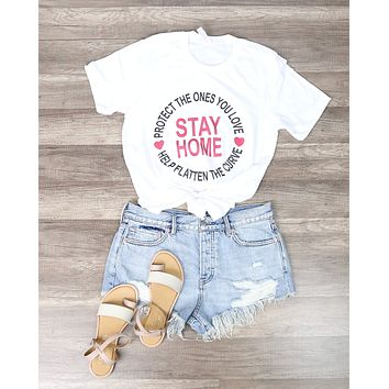 Distracted - Stay Home Graphic Tee in White