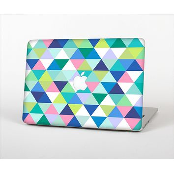 The Vibrant Fun Colored Triangular Pattern Skin Set for the Apple MacBook Pro 15""