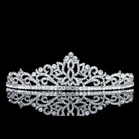 Bridal Floral Rhinestone Crystal Wedding Prom Crown Tiara 71022