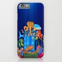 Blue phone Box Under the sea iPhone & iPod Case by Greenlight8