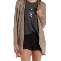 Tan Sweater Knit Dolman Cardigan by Charlotte Russe