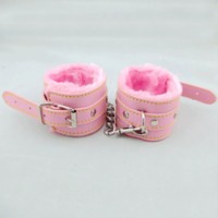 Hot Deal Hot Sale On Sale Leather Pink Toy Sex Toy Handcuffs [6628160003]