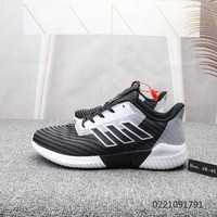 HCXX A860 Adidas 2019 Boost Breathable Sports Casual Running Shoes Black Gray White