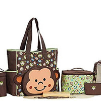 SOHO Franky the Monkey 10 pcs Deluxe Diaper Bag *Limited time offer* (Brown)