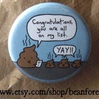you are all on my list cute funny weird kawaii poop by beanforest