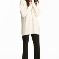 Knitted jumper - Natural white - Ladies | H&M GB