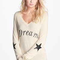 Wildfox 'Dream' Sequin V-Neck Knit Sweater | Nordstrom